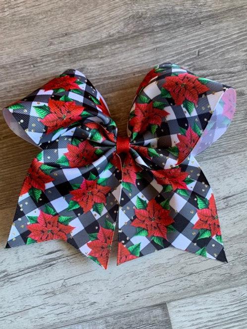 Poinsettas Cheer Style Bow