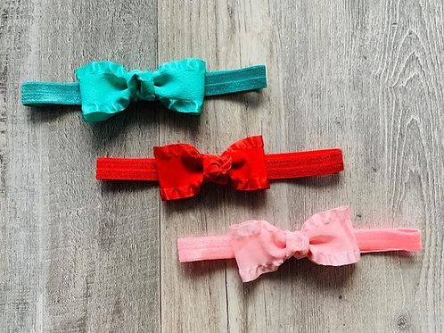 Ruffle Ribbon Baby Headband (Click to see all colors)