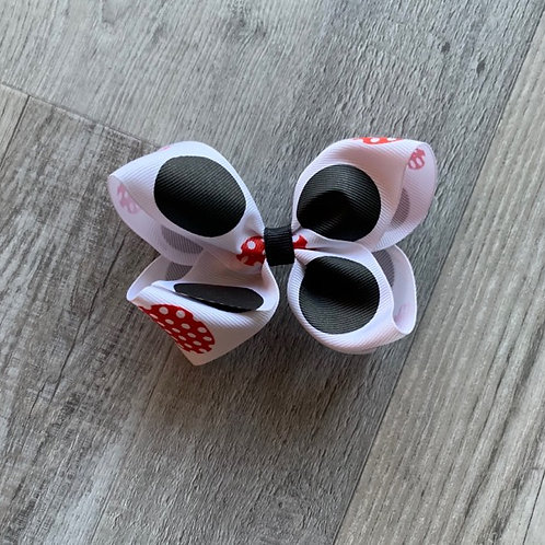 SALE black and red dots Loopy Bow