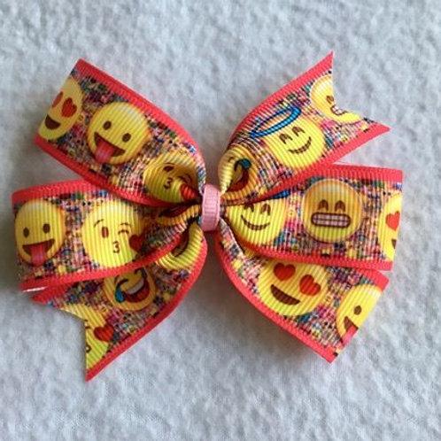 Emoji faces Mini Pinwheel Bow
