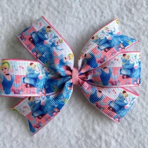 Cinderella Mini Pinwheel Bow