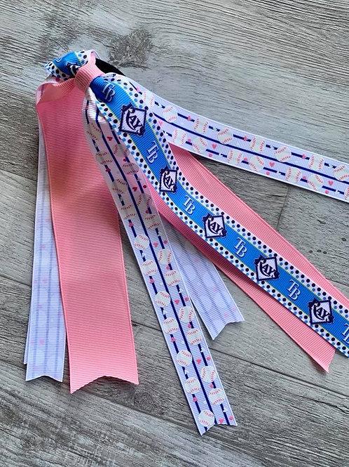 Tampa Bay Rays (pink) Streamer Pony Tail