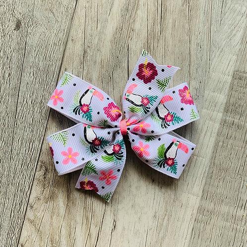 Toucan Mini Pinwheel Bow