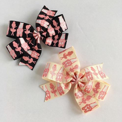 Sparkle Ballerinas mini pinwheel bow