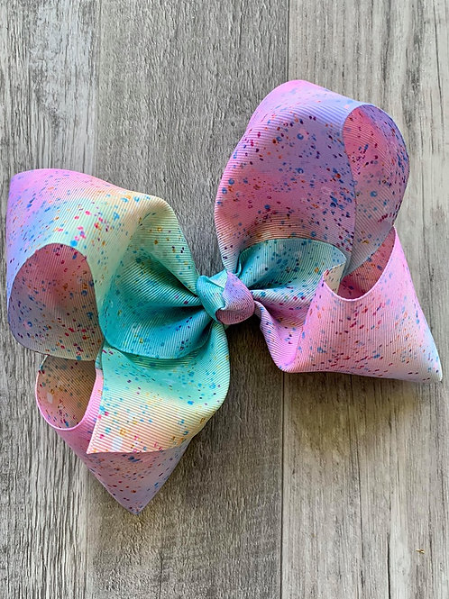 Watercolor Pastel Texas Size Loopy Bow