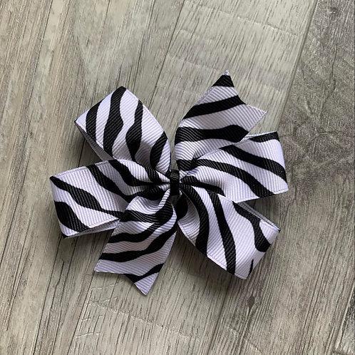 Zebra print Mini Pinwheel Bow