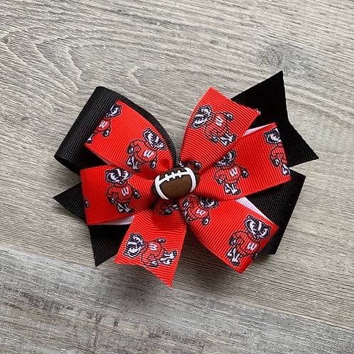 Wisconsin Badgers double pinwheel bow