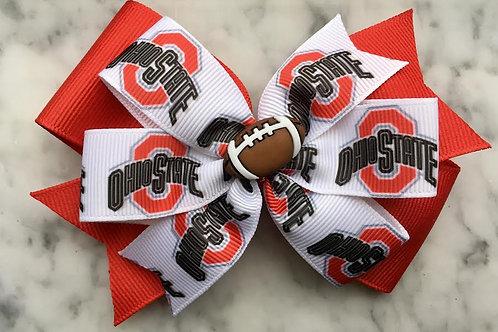 Ohio State double pinwheel bow