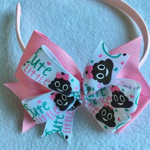 Cute Little Stinker Double Pinwheel Bow