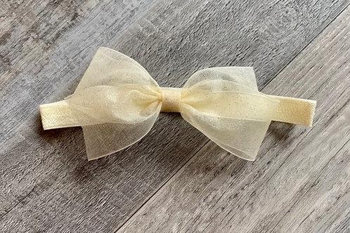 Ivory Sheer Sparkle Baby Headband