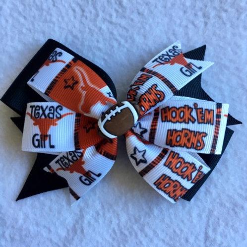 Texas Longhorns double pinwheel bow