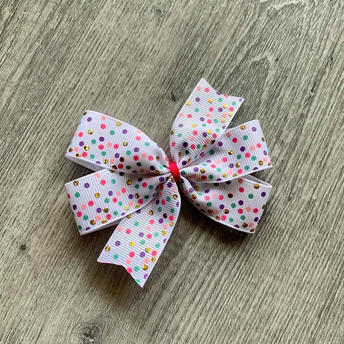 Confetti Mini Pinwheel Bow