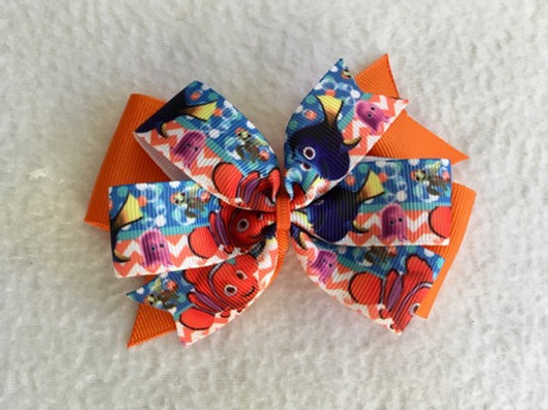 Nemo & Friends Double Pinwheel Bow