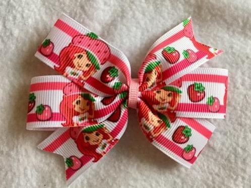 Strawberry Shortcake mini pinwheel bow