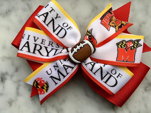 University of Maryland double pinwheel bow