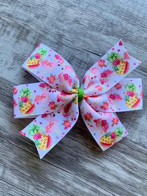 Baby Flamingos Mini Pinwheel Bow