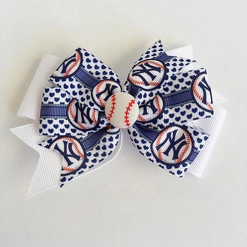 New York Yankees double pinwheel bow