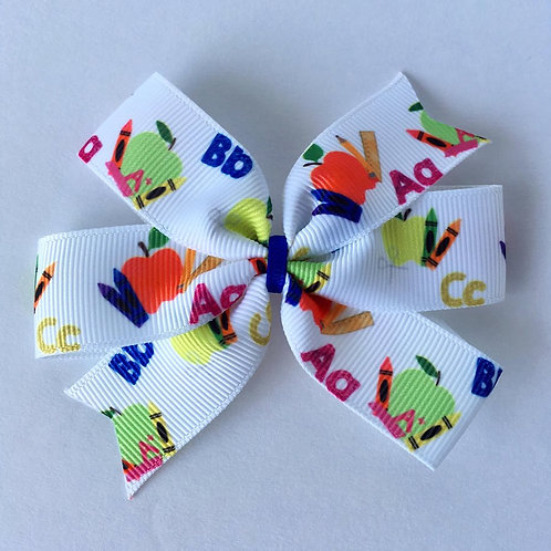ABC mini pinwheel bow