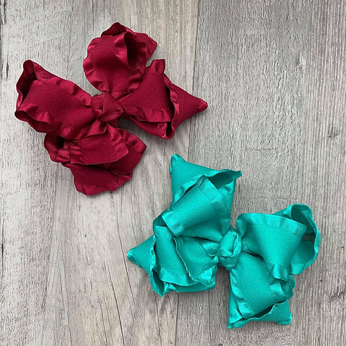SALE double ruffled Loopy Bow