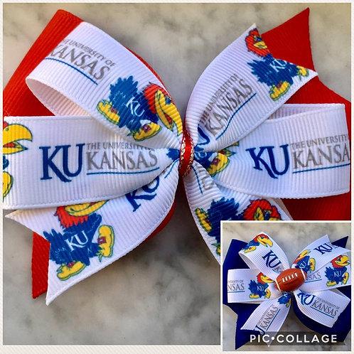 University of Kansas double pinwheel bow