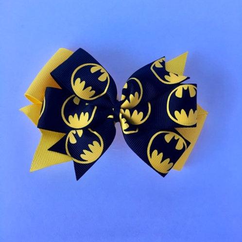 Batman Double Pinwheel Bow