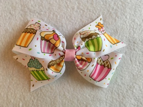 Cupcakes Single Loop Bow
