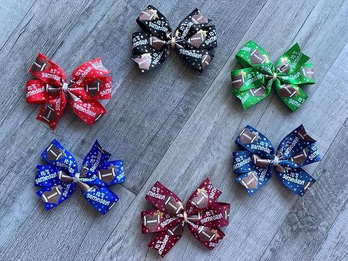 It's Gameday mini pinwheel bow
