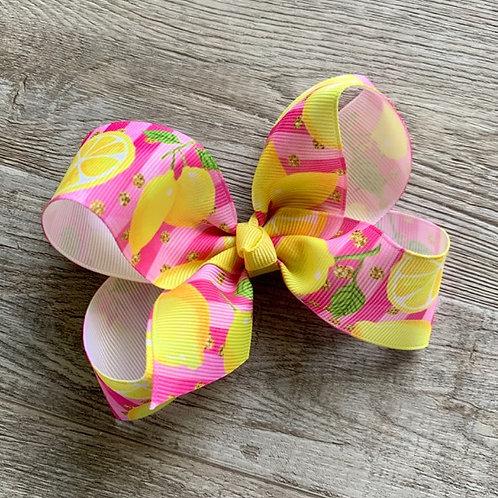 Pink Lemonade Loopy Bow