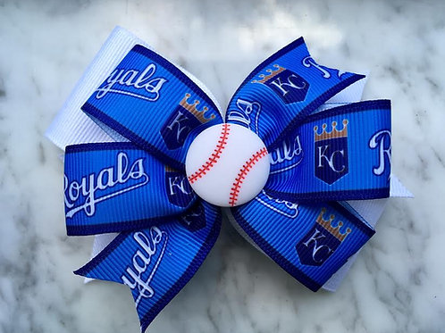 Kansas City Royals double pinwheel bow