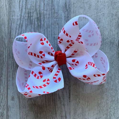 Candy Cane Loopy Bow
