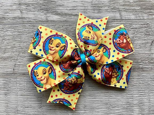 Lion King Mini Pinwheel Bow