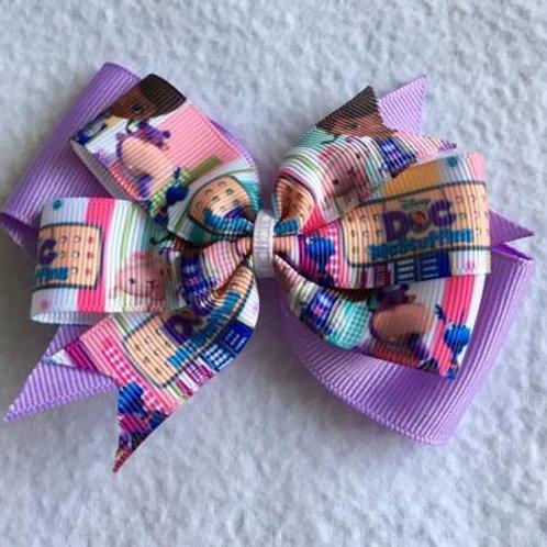 Doc McStuffins & friends Double Pinwheel Bow