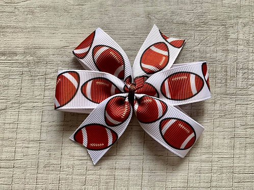 Football mini pinwheel bow