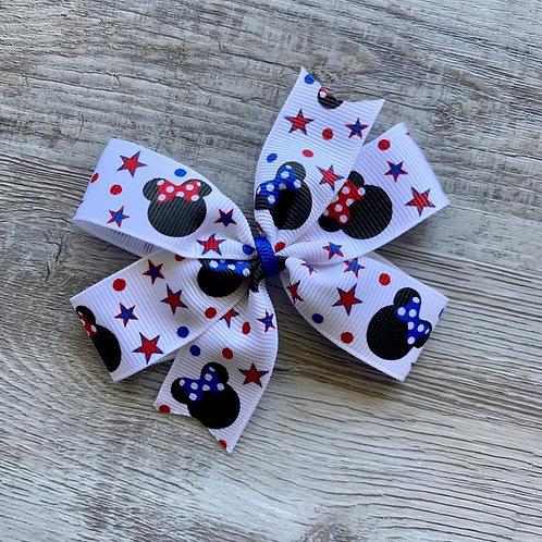 Stars & Stripes Minnie Mouse Mini Pinwheel Bow