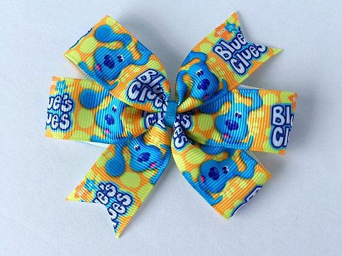 SALE Blues Clues mini pinwheel bow