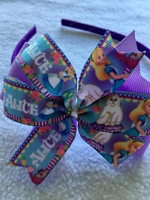 Alice in Wonderland Double Pinwheel Bow