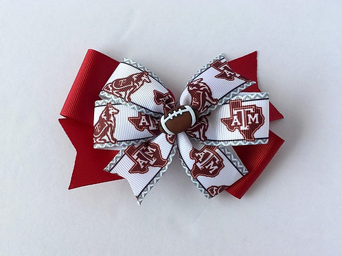 Texas A&M Aggies double pinwheel bow