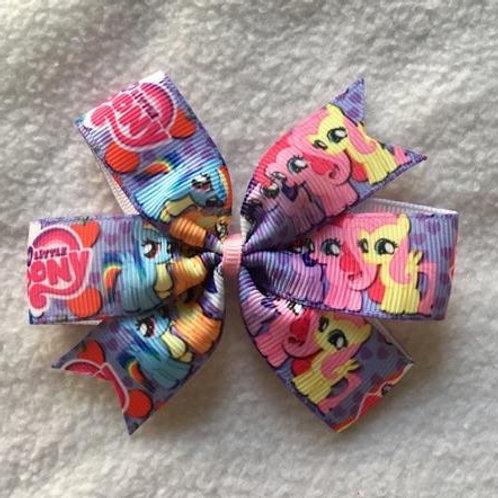 My Little Pony friends mini pinwheel bow