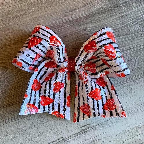 Hearts Flip Sequin Cheer Bow