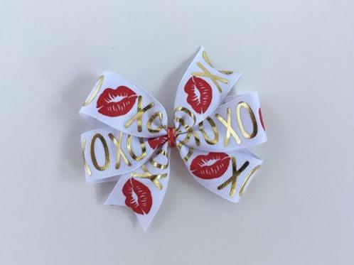 XOXO Mini Pinwheel Bow
