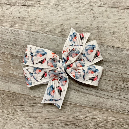 Mary Poppins inspired Mini Pinwheel Bow