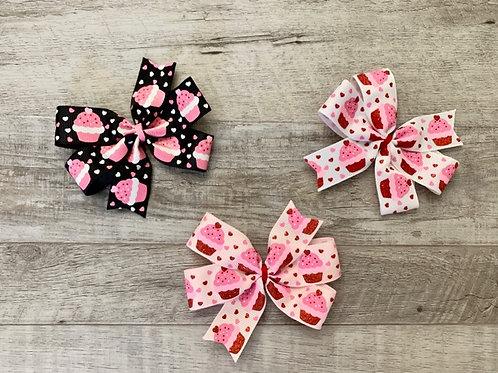 Glitter Cupcakes Mini Pinwheel Bow