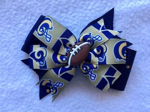 Los Angeles Rams double pinwheel bow