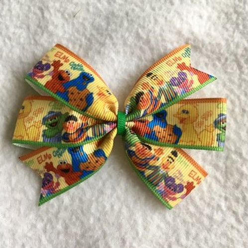 SALE Sesame Street mini pinwheel bow