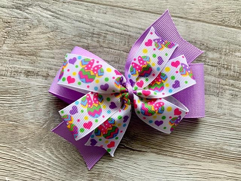 Easter Egg Minnie Mouse Double Pinwheel Bow