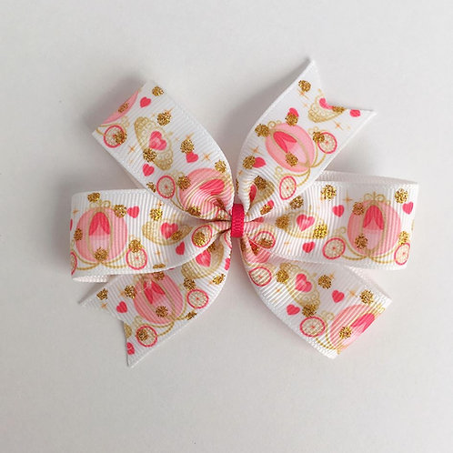 Princess Carriage Mini Pinwheel Bow