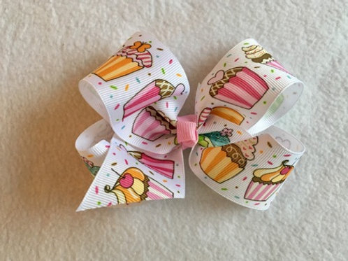 Cupcakes Loopy Bow