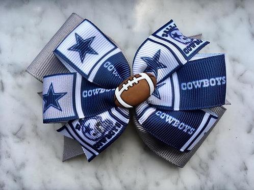 Dallas Cowboys double pinwheel bow