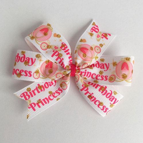 Birthday Princess Mini Pinwheel Bow