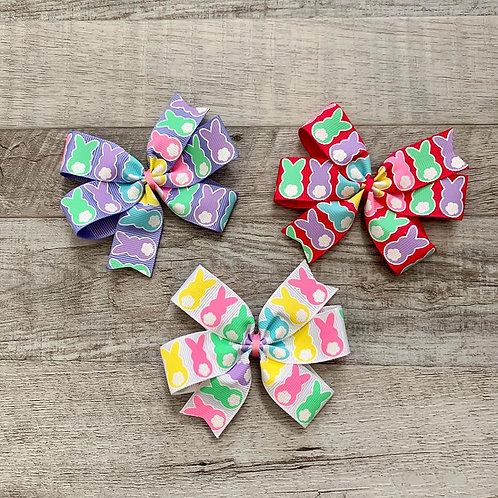 Bunny Tail Mini Pinwheel Bow